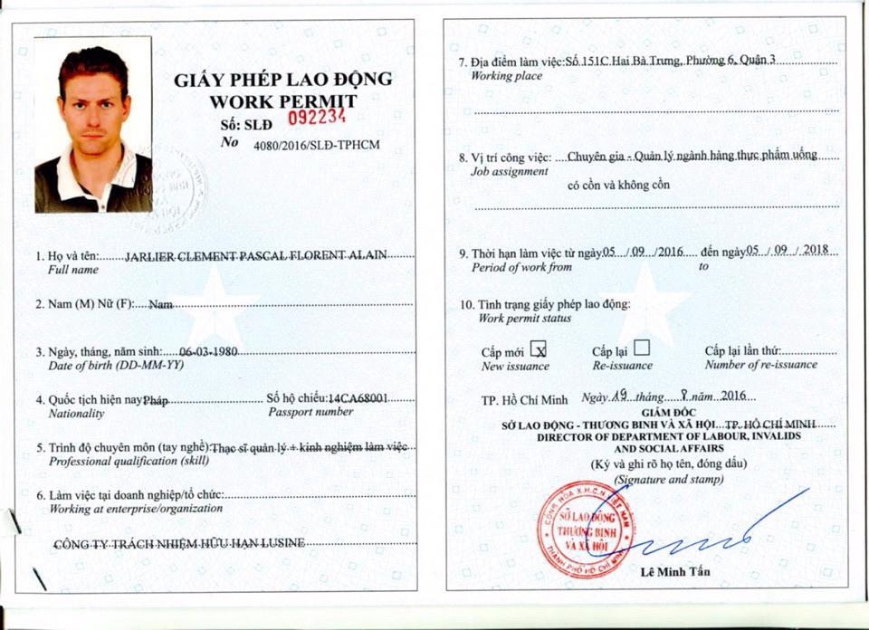 Dịch vụ xin cấp lại Giấy phép lao động cho lao động nước ngoài tại Việt Nam