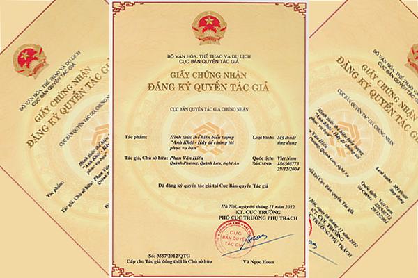 Dịch vụ cấp lại, đổi giấy chứng nhận đăng ký quyền tác giả